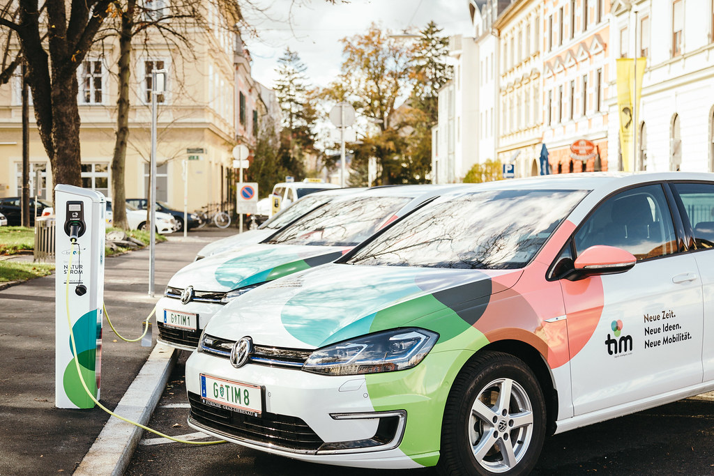 Tim car sharing, electric cars Graz