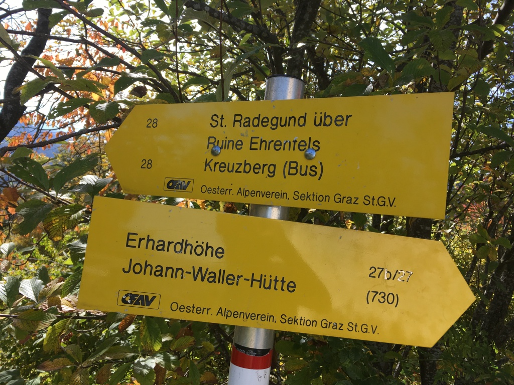 Hiking St Radegund, Schöckl, Graz, Novystein near Graz with great views. Easy hike.